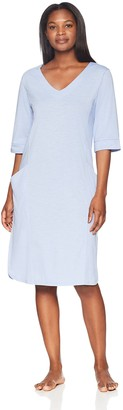 Arabella Amazon Brand Women's 3/4 Sleeve Tunic Nightgown