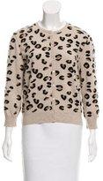 Valentino Cashmere & Wool-Blend Leopard Cardigan