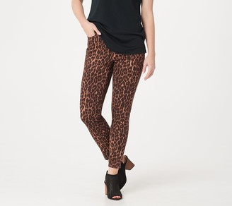 Lisa Rinna Collection Printed Ankle Zip Jeans