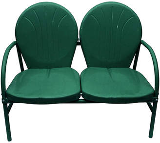 Hunter Rich Pacific Green Retro Metal Tulip 2-Seat Double Chair