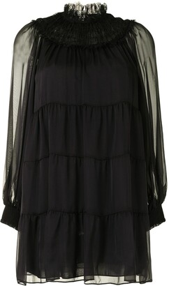 Alice + Olivia Tiered Mini Dress