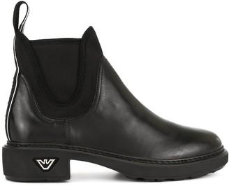 Emporio Armani Elasticated Side Panel Boots