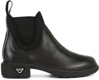 Emporio Armani elasticated side panel boots