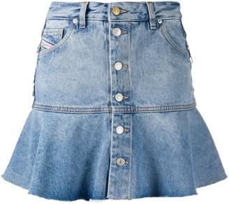 Diesel Flounce Hem Denim Skirt