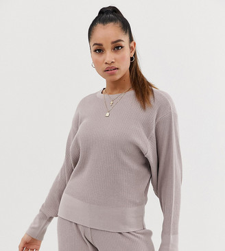 ASOS DESIGN Petite premium lounge knitted dropped sleeve sweat