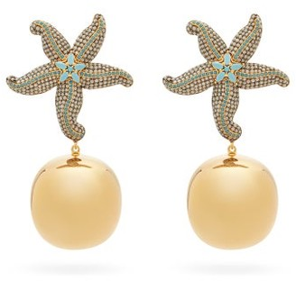 BEGÜM KHAN Sea Star Gold-plated Clip Earrings - Gold Multi