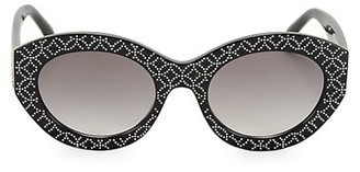 Alaia 52MM Oval Studded Sunglasses