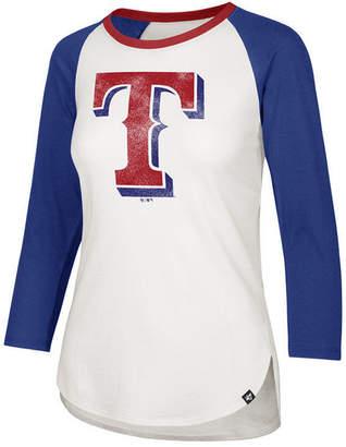 '47 Women Texas Rangers Splitter Raglan T-Shirt