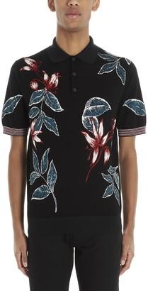 Prada Floral Print Polo Shirt