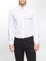 Calvin Klein Classic Fit Solid Poplin Shirt