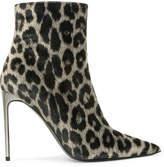 Stella McCartney Leopard-print Velvet Ankle Boots