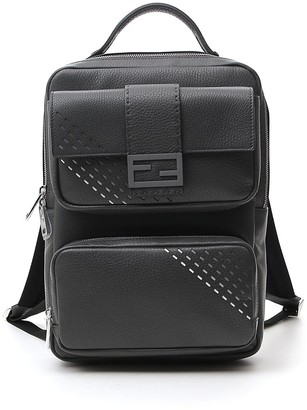 Fendi FF Logo Plaque Backpack