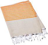 Turkish T Stripy Breeze Towel, Orange