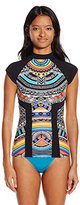 Rip Curl Women's Tribal Myth Short Sleeve Printed Rashguard
