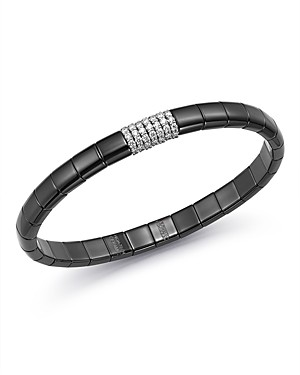 Roberto Demeglio 18K White Gold & Black Ceramic Pura Stretch Bracelet