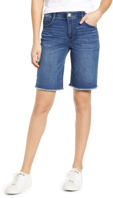 Wit & Wisdom Ab-Solution Retro High Waist Denim Bermuda Shorts