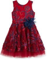 Zoë Ltd Ava Masquerade Ball Swirl Dress, Size 2-6X
