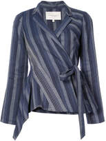 Carolina Herrera diagonal stripe blazer