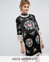 Asos Embroidered Tunic Shift Dress