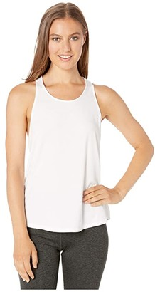 tasc Performance Twist Back Tank Top (White) Women's Clothing