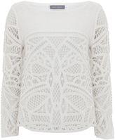 Mint Velvet Ivory Macrame Front Knit