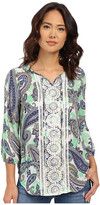 Christin Michaels Tours Print Blouse