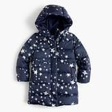 J.Crew Girls' tie-waist puffer jacket in stars