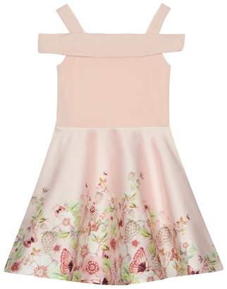 Baker by Ted Baker - 'Girls' Pink Floral Skirt Prom Dress