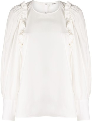 BA&SH Passion frill trimmed top