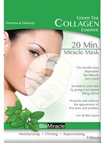 BioMiracle Anti-Aging and Moisturizing Face Mask Sheets - Green Tea - 5 count