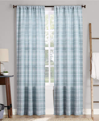 "Sebastian Lichtenberg No. 918 Plaid Semi-Sheer Rod Pocket Curtain Panel, 40"" W x 95"" L"