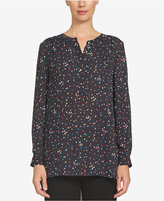 CeCe Printed High-Low Blouse