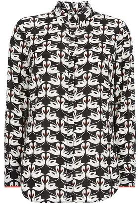 Mint Velvet Nora Print Swan Shirt
