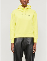 Calvin Klein Logo-embroidered cotton-blend jersey hoody