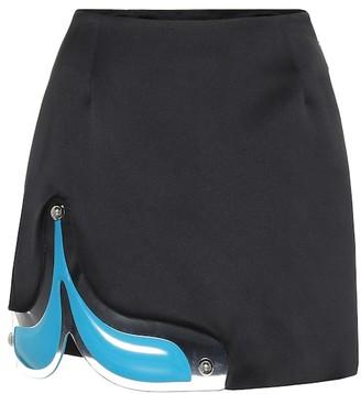 Christopher Kane PVC-trimmed miniskirt