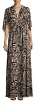 Rachel Pally Cape-Sleeve Printed Caftan Maxi Dress, Etch Print