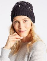 Marks and Spencer Jeweled Beanie Hat
