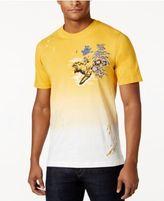 Sean John Men's Big & Tall Embroidered Tiger Ombre T-Shirt