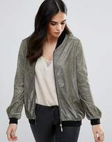 Rare Metallic Bomber Jacket
