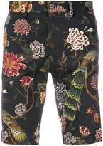 Dolce & Gabbana floral peacock print shorts