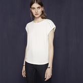 Maje Cotton T-shirt with braided details