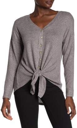 Olivia Sky Button Down Tie Front Pullover
