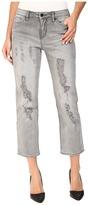 Calvin Klein Jeans Destroyed Crop Straight Jeans in Grey Fog