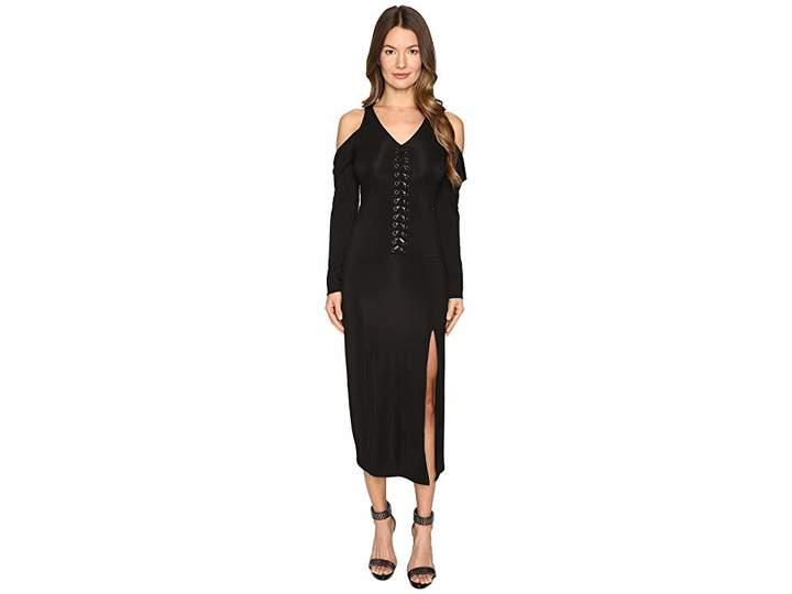 Yigal Azrouel Lacing Detail Matt Jersey Dress Women's Dress