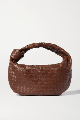 Bottega Veneta Jodie Small Knotted Intrecciato Leather Tote - Dark brown