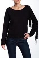 Pam & Gela Fringe Hi-Lo Sweater