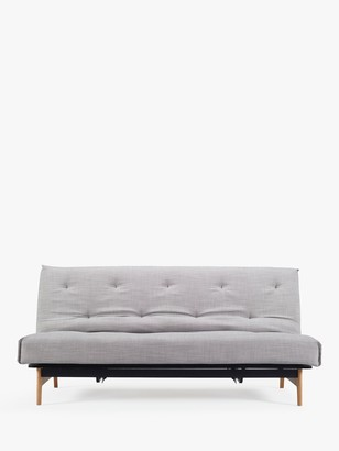 Innovation Living Aslak Sofa Bed with Pocket Sprung Mattress, Linen Ash Grey