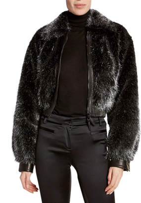Tom Ford Foiled Faux-Fur Bomber Jacket