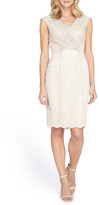 Tahari Cross Front Lace Sheath Dress (Regular & Petite)