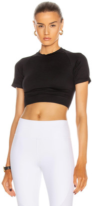 ALALA Barre Seamless Tee in Black | FWRD